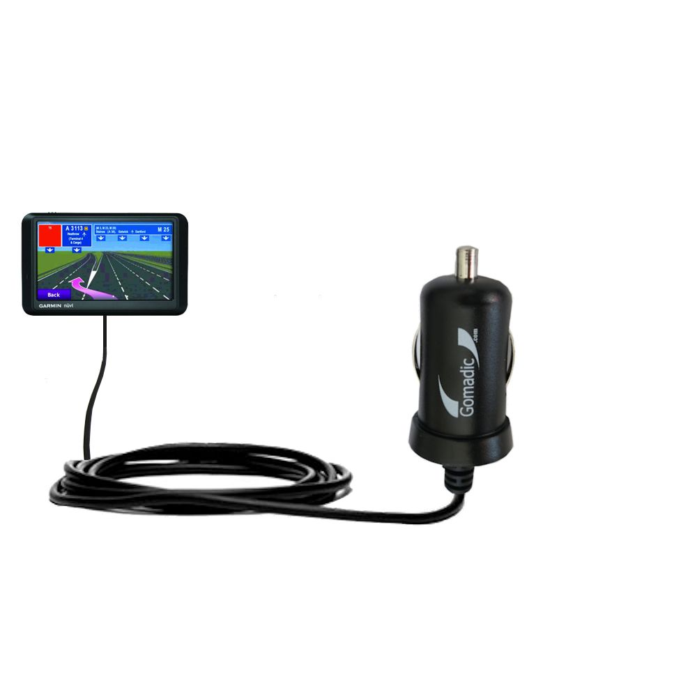 Mini Car Charger compatible with the Garmin nuvi 765