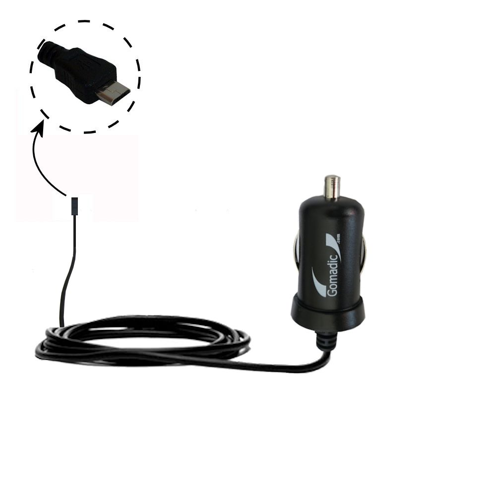Mini Car Charger compatible with the Gomadic micro USB Devices
