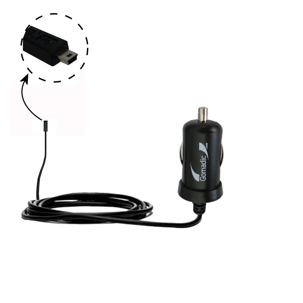 Mini Car Charger compatible with the Gomadic mini USB Devices