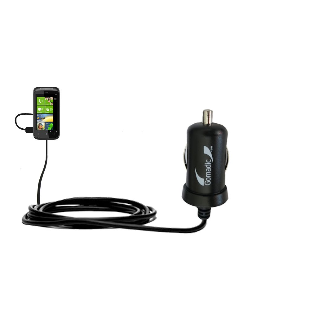 Mini Car Charger compatible with the HTC 7 Mozart