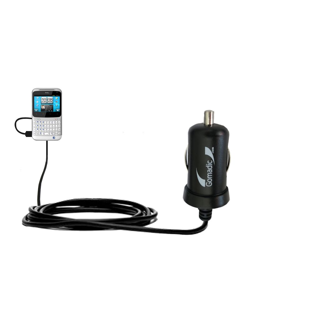 Mini Car Charger compatible with the HTC ChaCha