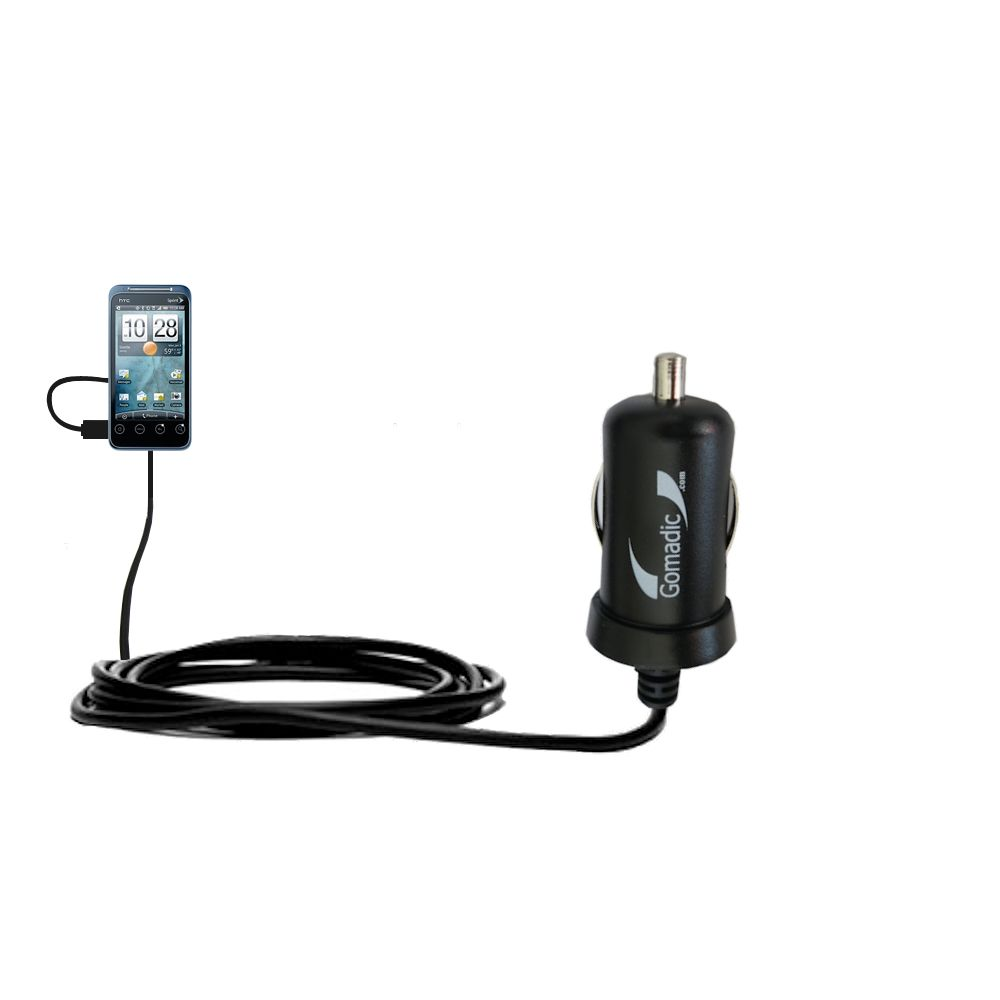 Mini Car Charger compatible with the HTC Evo Shift 4G