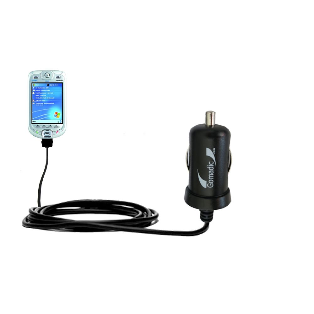 Mini Car Charger compatible with the HTC Harrier Smartphone