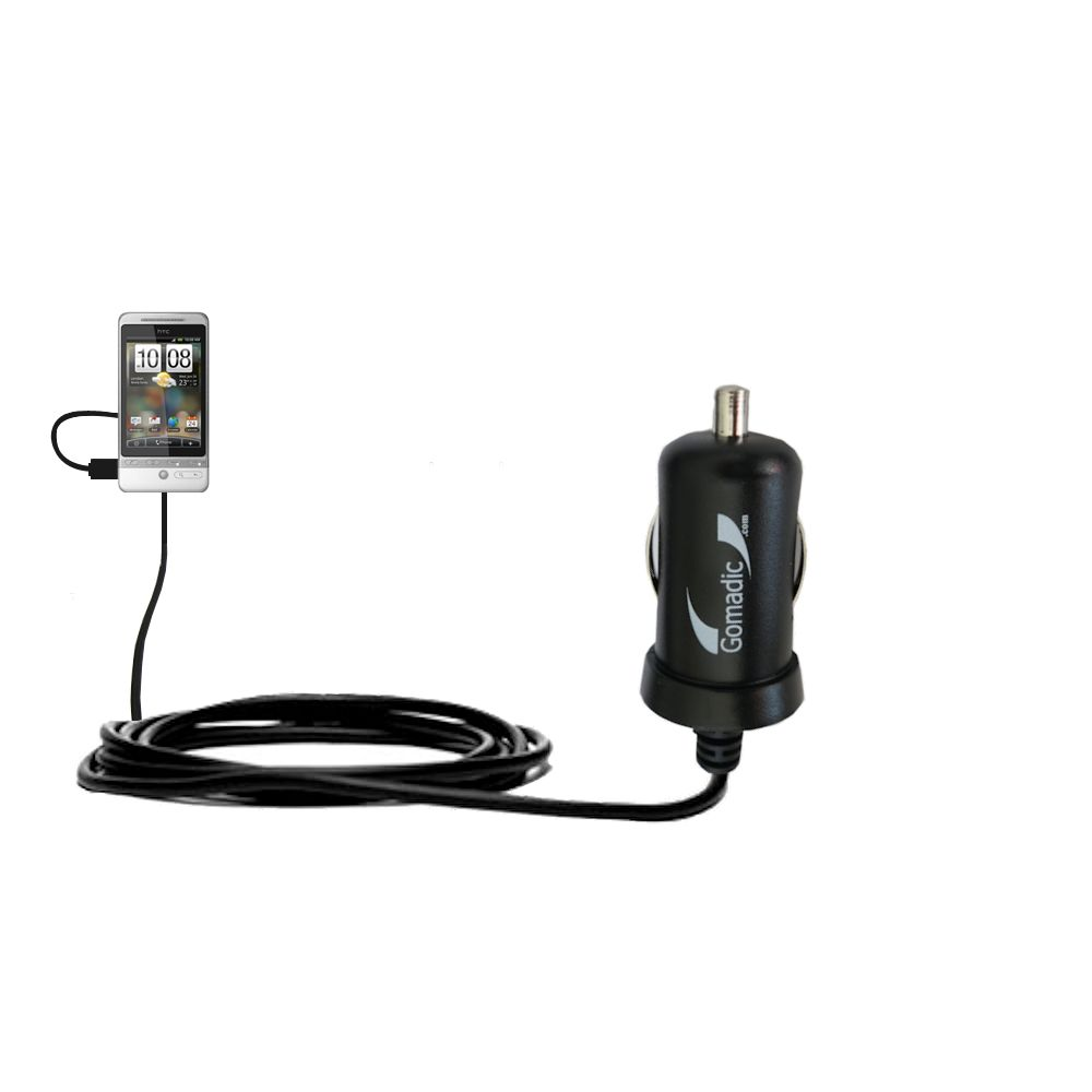 Mini Car Charger compatible with the HTC Hero S