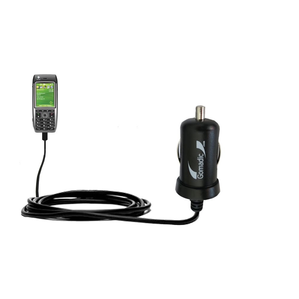 Mini Car Charger compatible with the HTC MTeoR