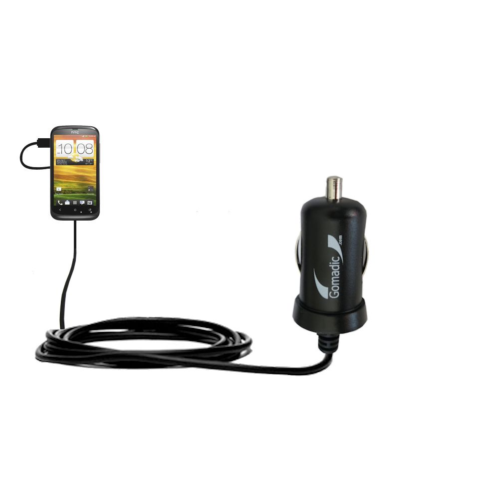 Mini Car Charger compatible with the HTC One S / Ville