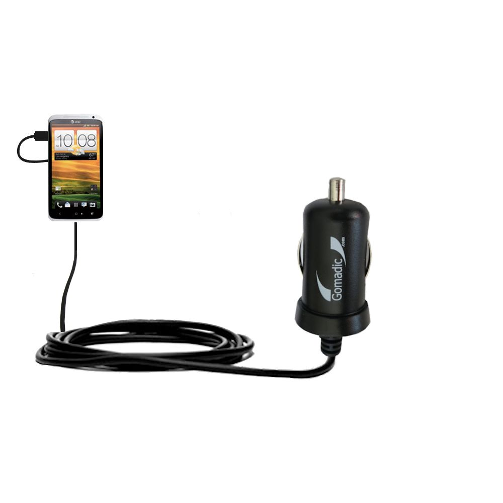 Mini Car Charger compatible with the HTC One X