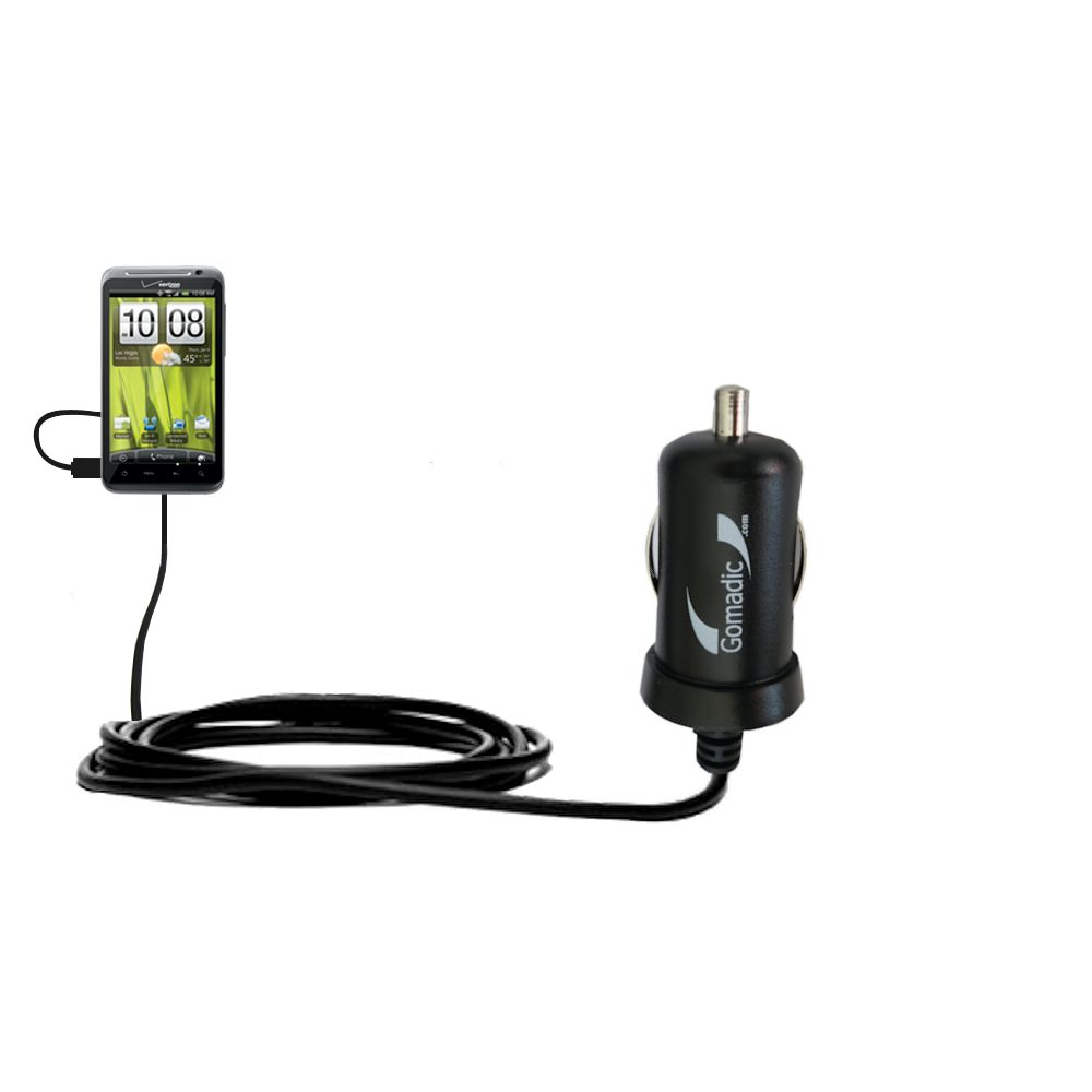 Mini Car Charger compatible with the HTC Thunderbolt