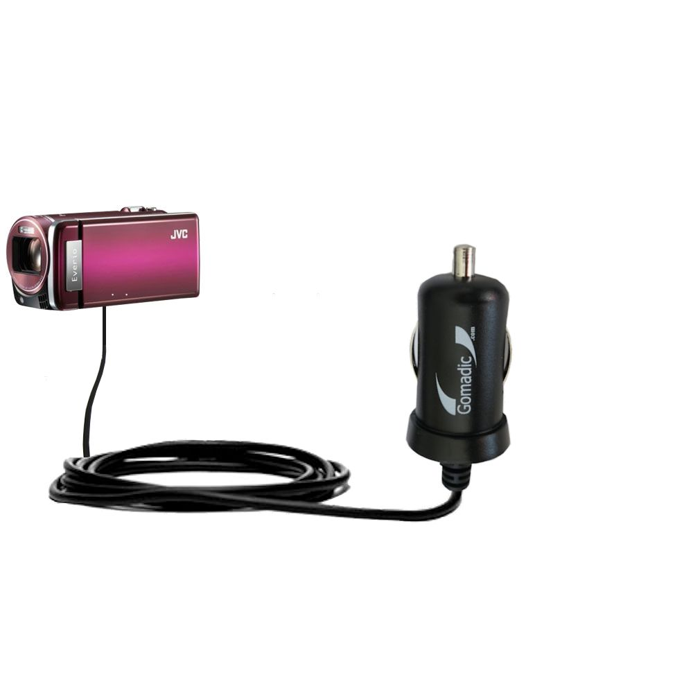 Mini Car Charger compatible with the JVC Everio GZ-HM880 / HM890