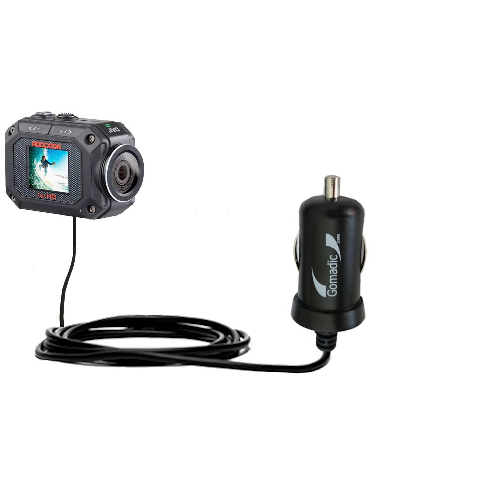 Mini Car Charger compatible with the JVC GC-XA2 Action Camera