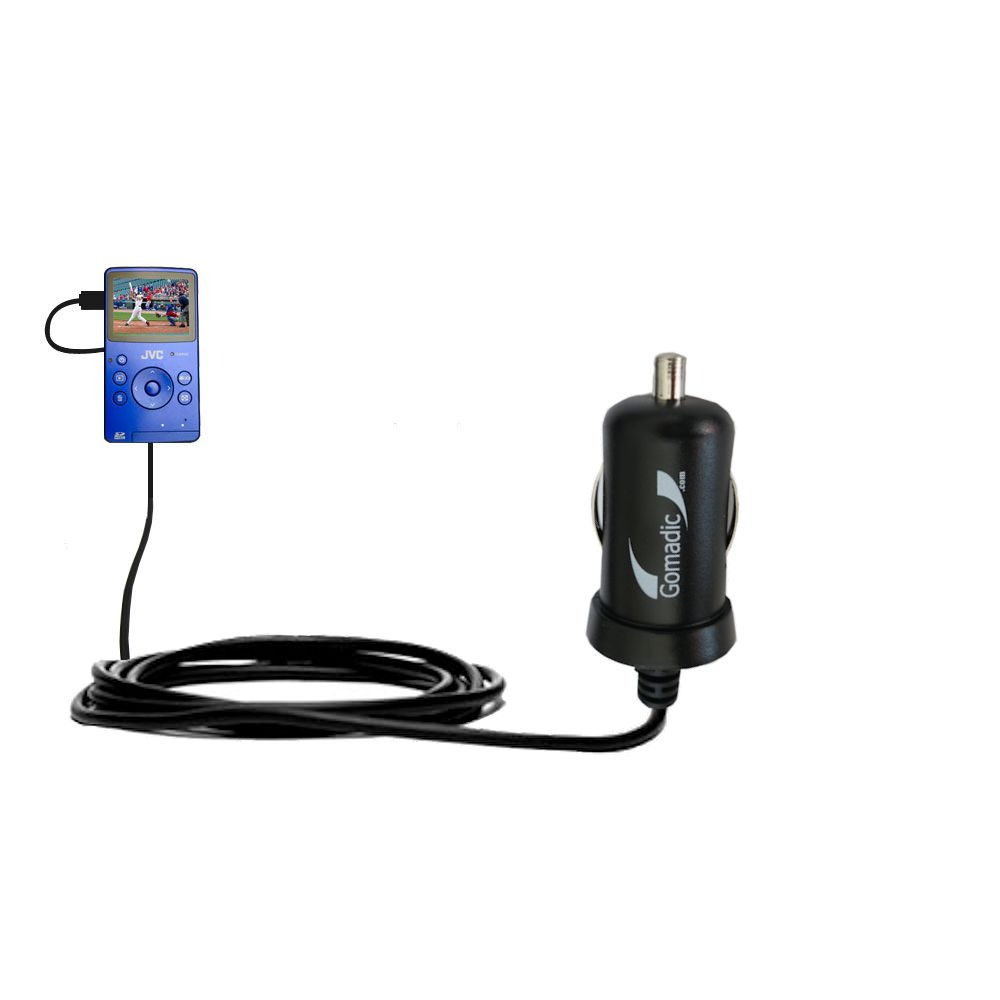 Mini Car Charger compatible with the JVC Picsio GC-FM1 Pocket  Video Camera