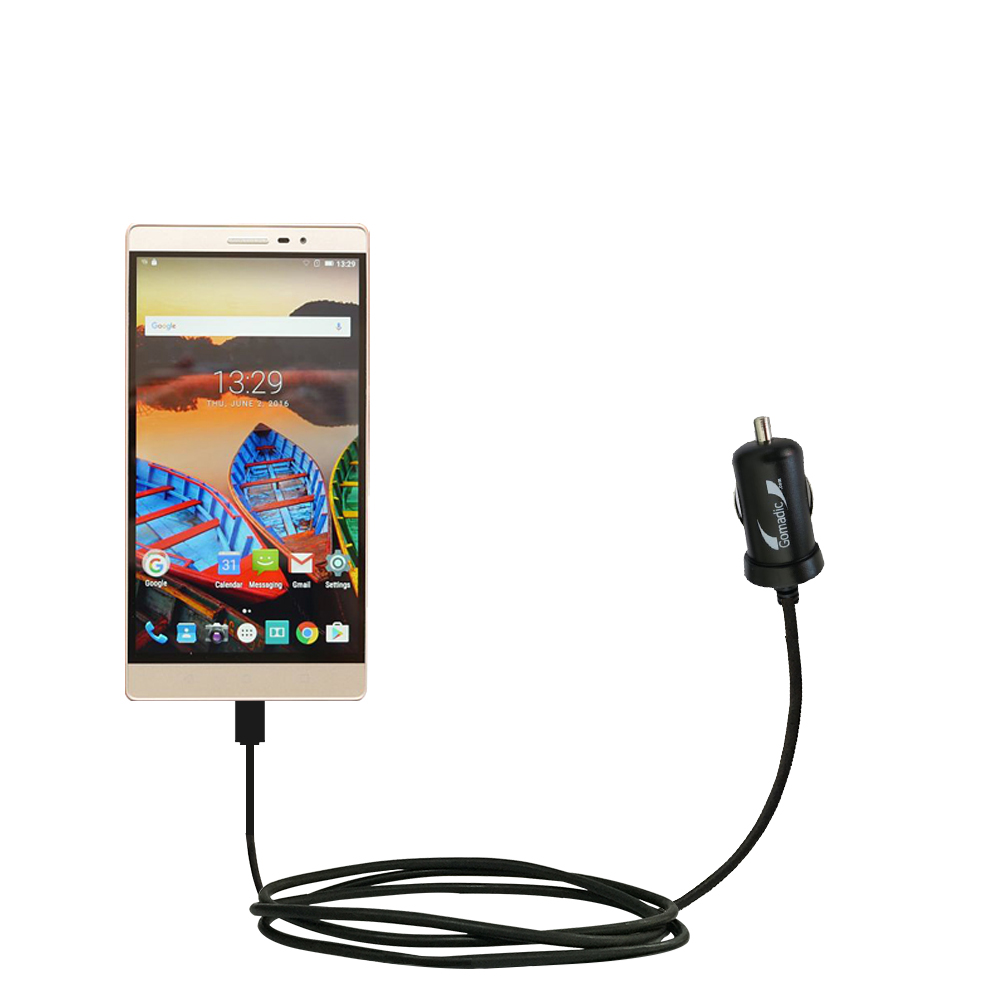 Mini Car Charger compatible with the Lenovo PHAB 2 Pro