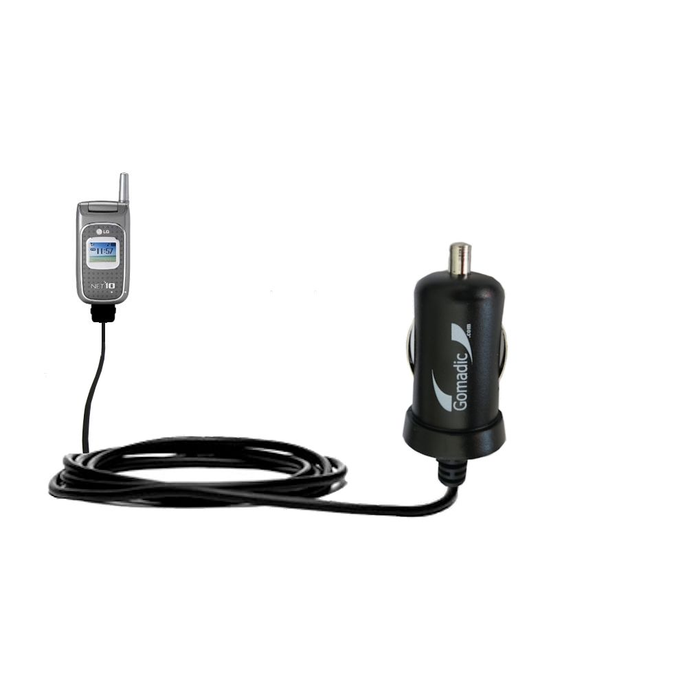 Mini Car Charger compatible with the LG 1500