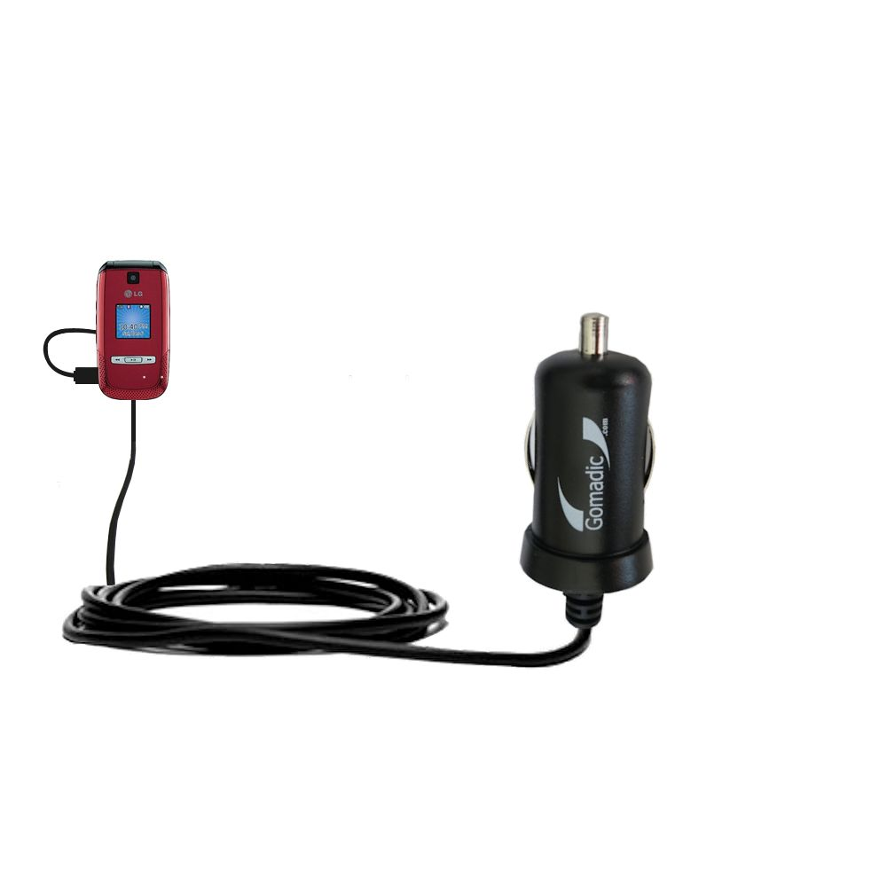 Mini Car Charger compatible with the LG AX500