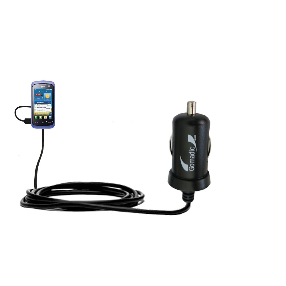 Mini Car Charger compatible with the LG Cookie Music