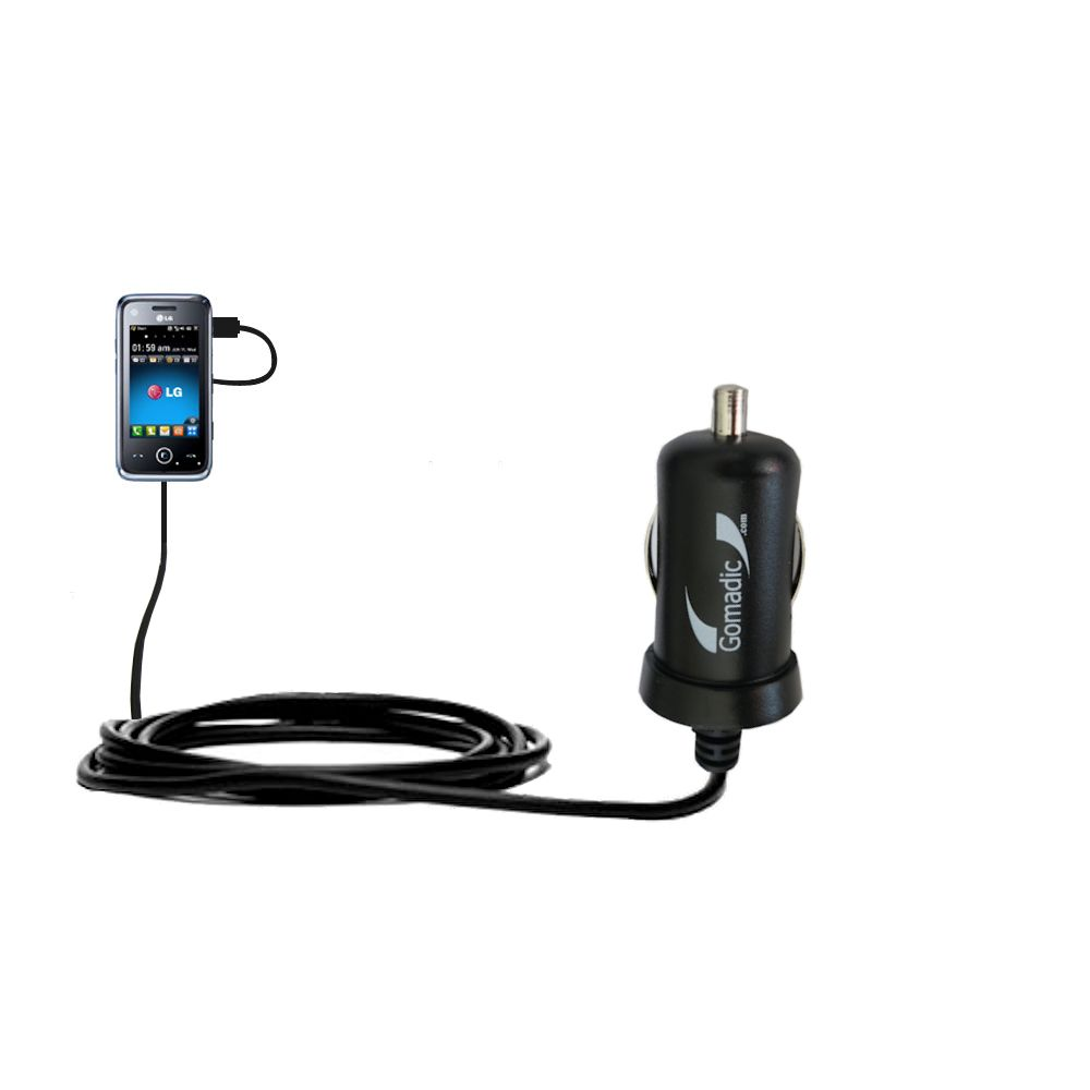 Mini Car Charger compatible with the LG GM730