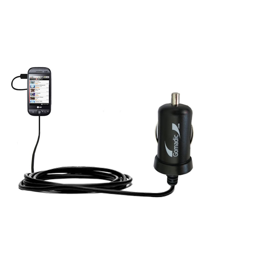 Mini Car Charger compatible with the LG GW620