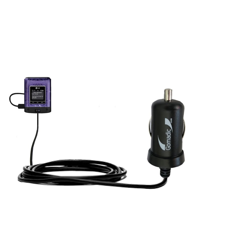 Mini Car Charger compatible with the LG Lotus