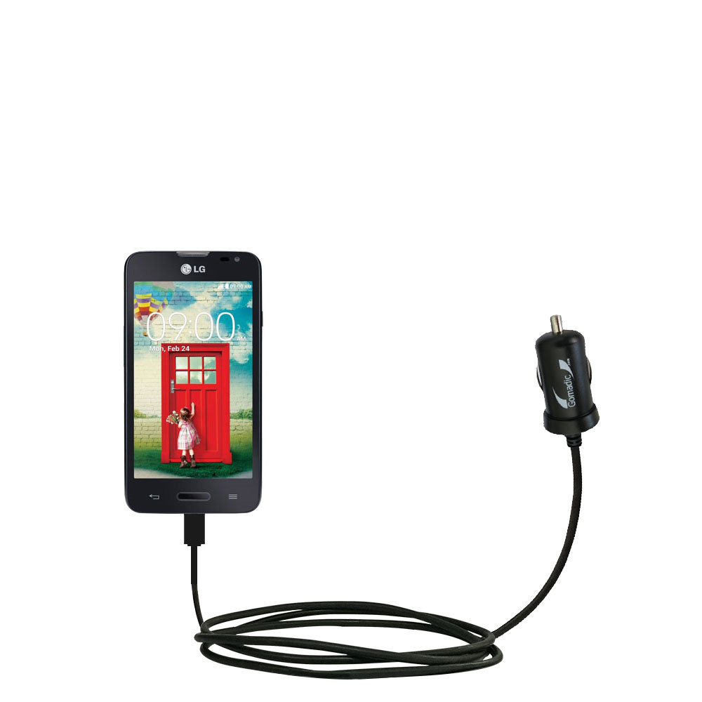 Mini Car Charger compatible with the LG Optimus L70