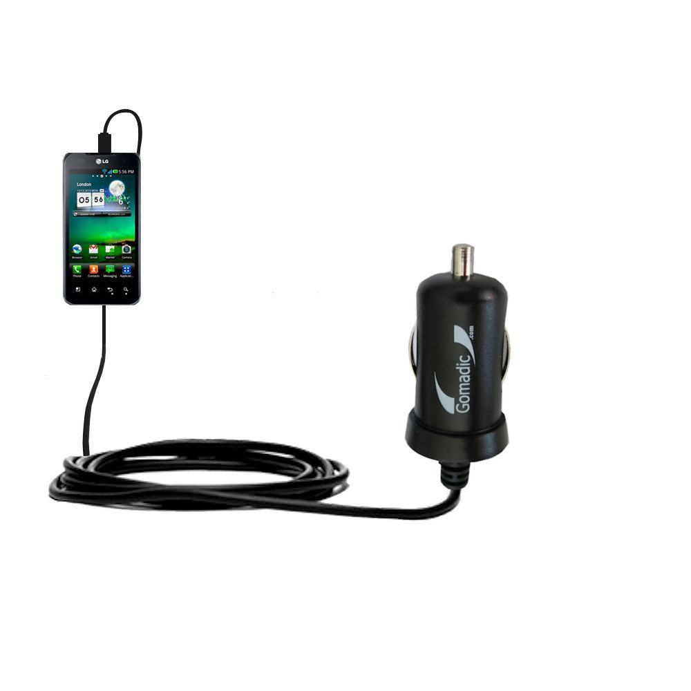 Mini Car Charger compatible with the LG Optimus True HD