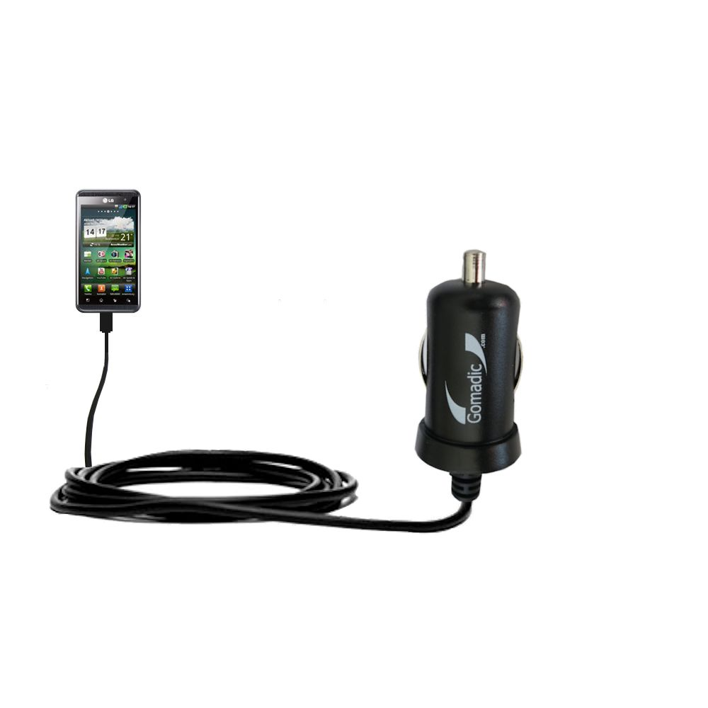 Mini Car Charger compatible with the LG Optimus Two