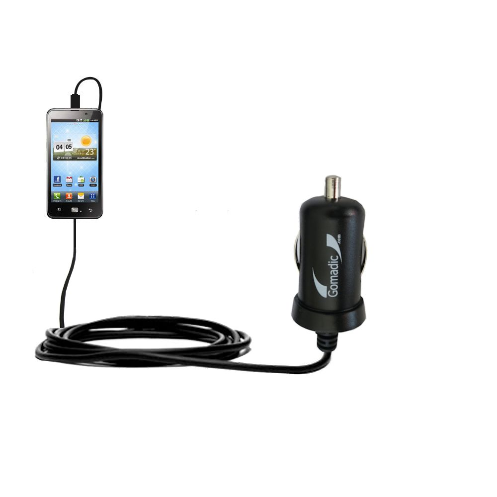 Mini Car Charger compatible with the LG Revolution 2