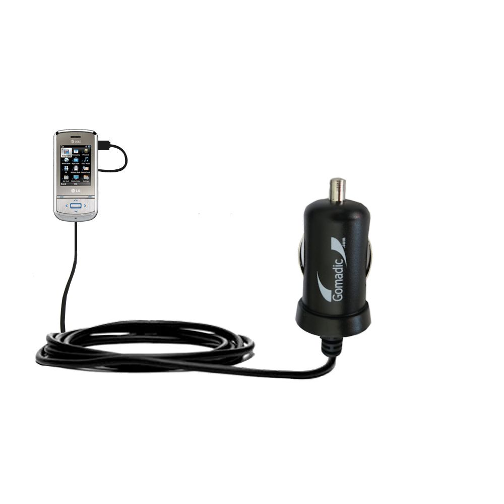 Mini Car Charger compatible with the LG Shine II GD710