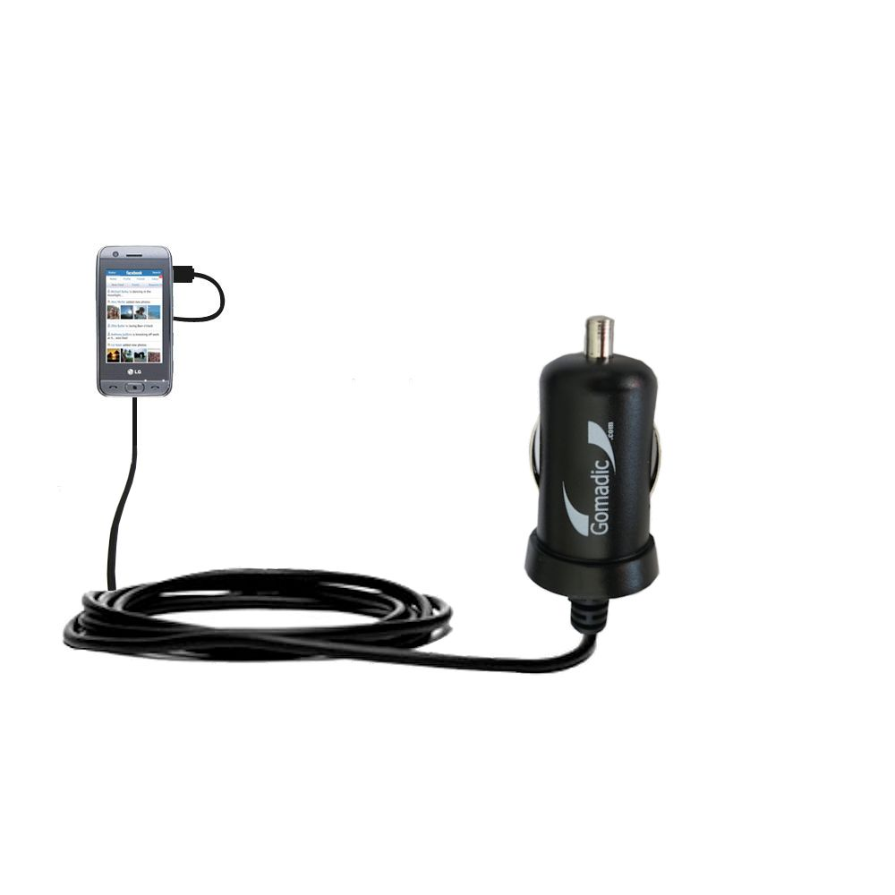 Mini Car Charger compatible with the LG Viewty Smile