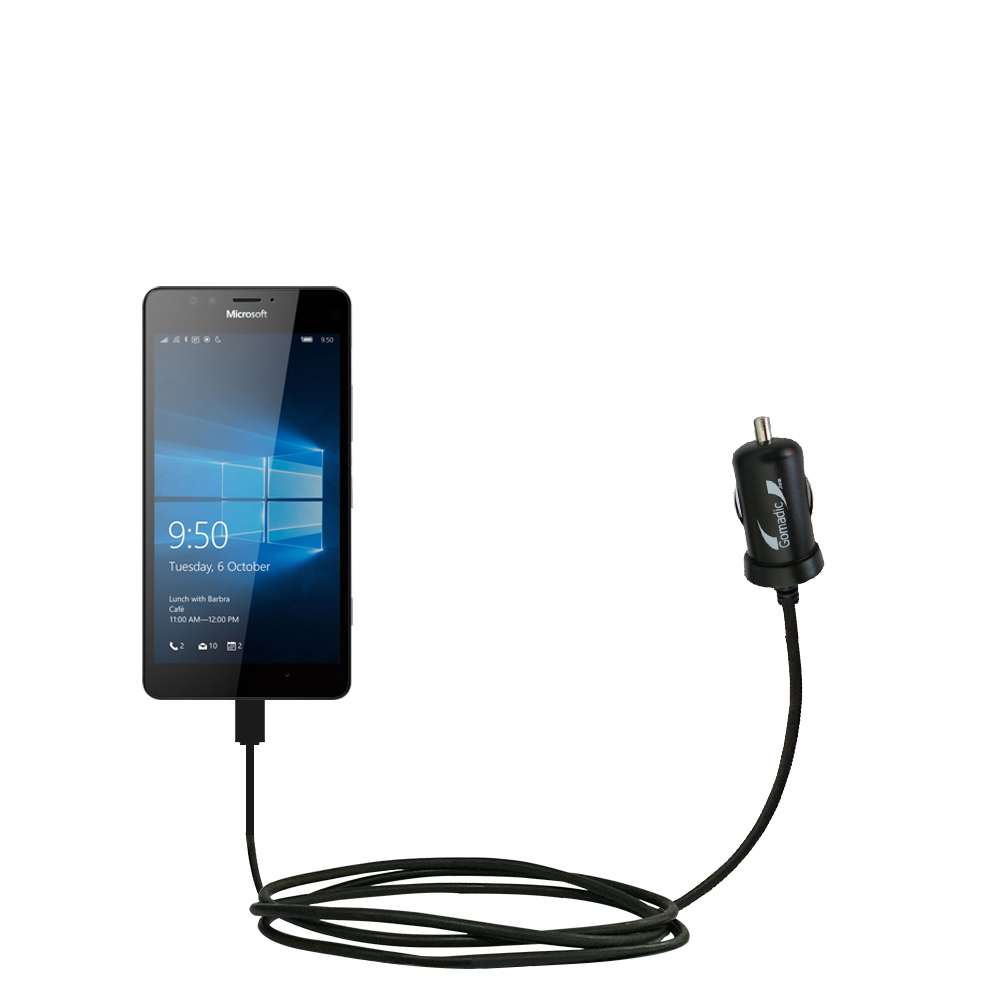 Mini Car Charger compatible with the Microsoft Lumia 950