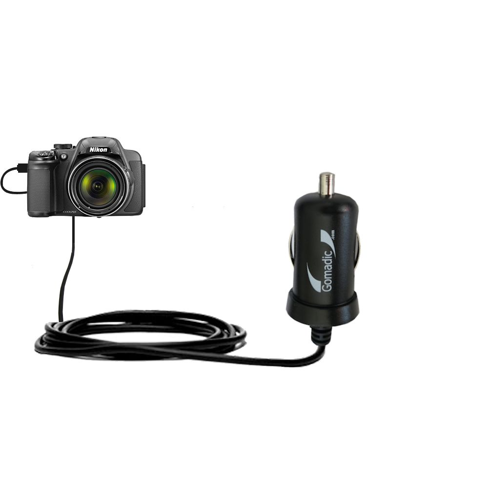 Mini Car Charger compatible with the Nikon Coolpix P510 / P520