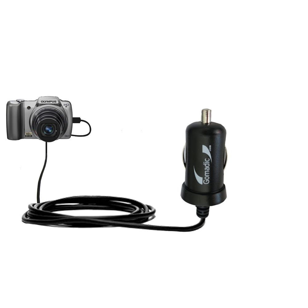 Mini Car Charger compatible with the Olympus SZ-10