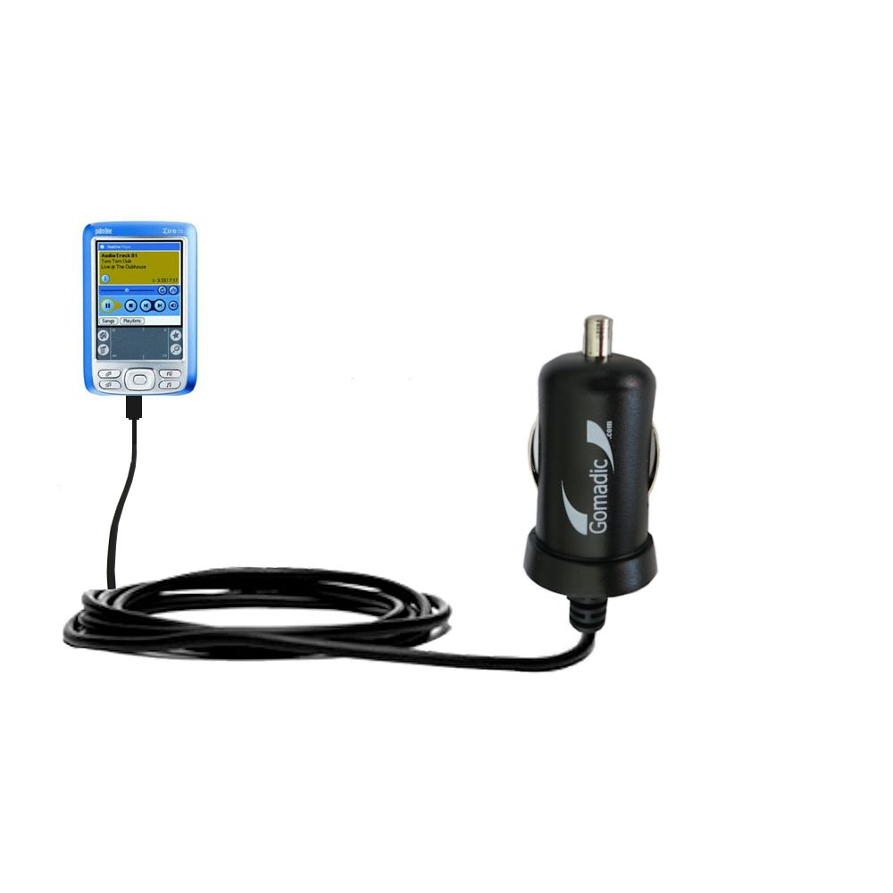 Mini Car Charger compatible with the Palm palm Zire 72s