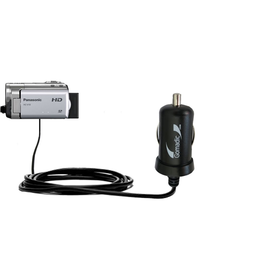 Mini Car Charger compatible with the Panasonic HC-V10