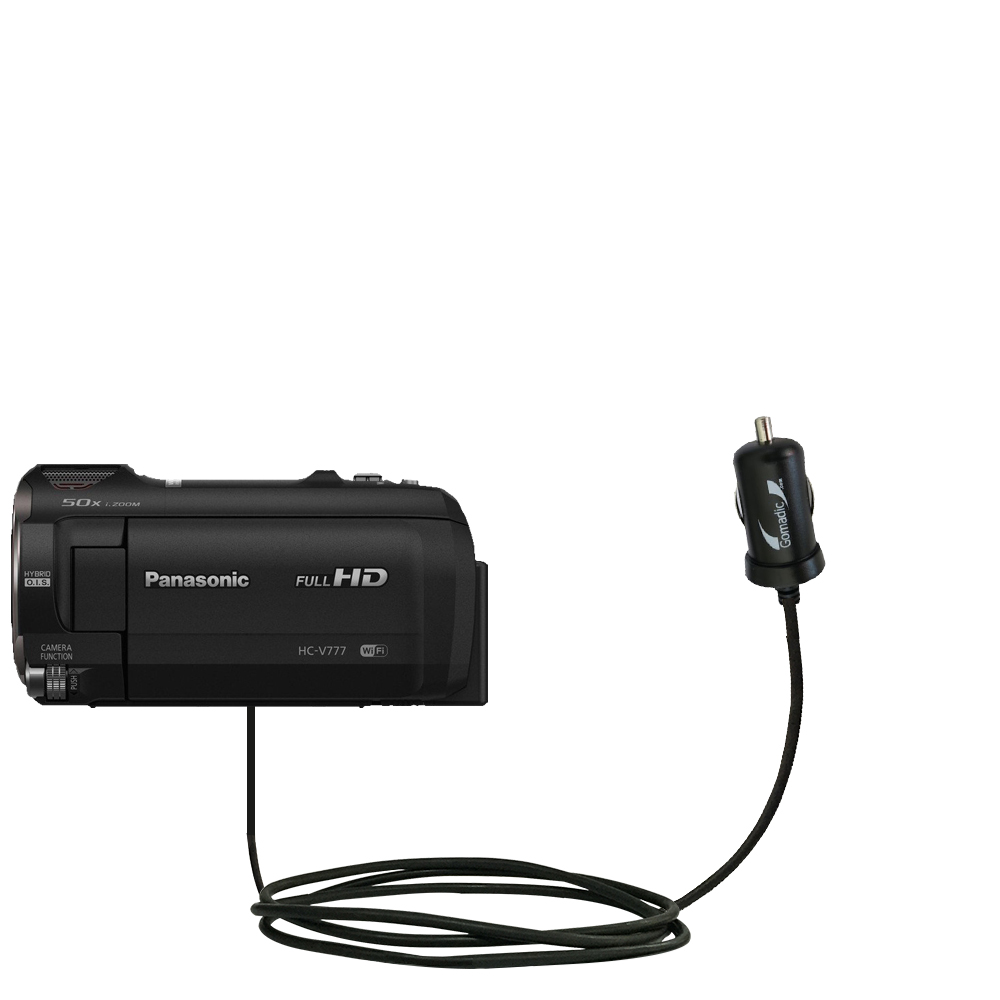 Mini Car Charger compatible with the Panasonic HC-V770 / HC-V777
