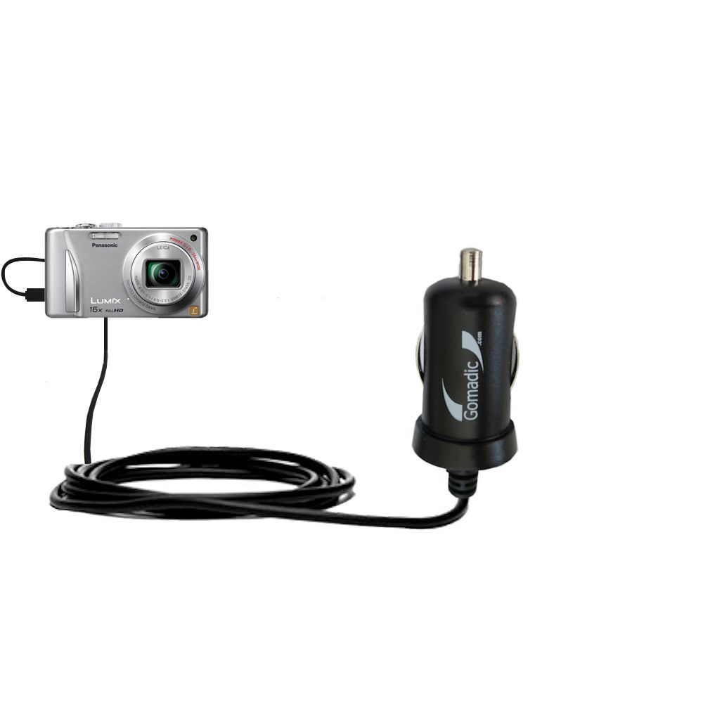 Mini Car Charger compatible with the Panasonic Lumix DMC-ZS15S
