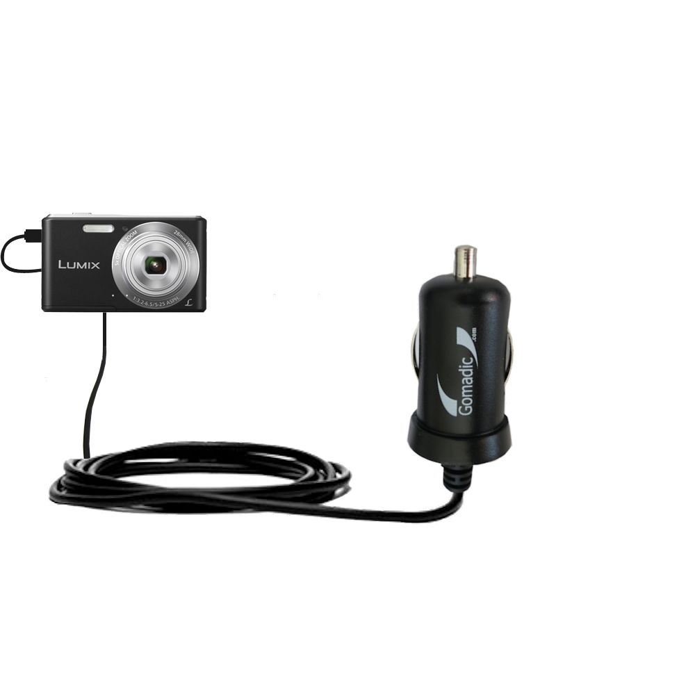 Mini Car Charger compatible with the Panasonic Lumix F5 / DMC-F5