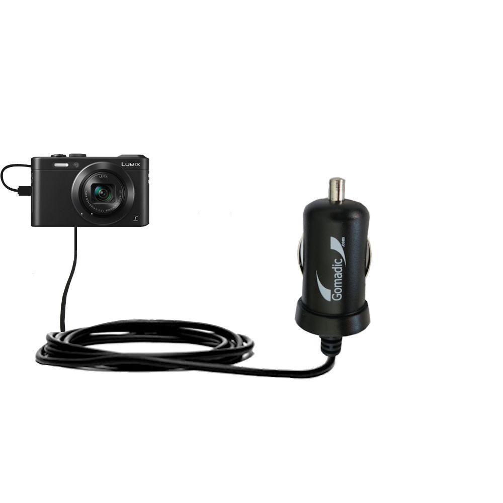 Mini Car Charger compatible with the Panasonic Lumix LF1 / DMC-LF1