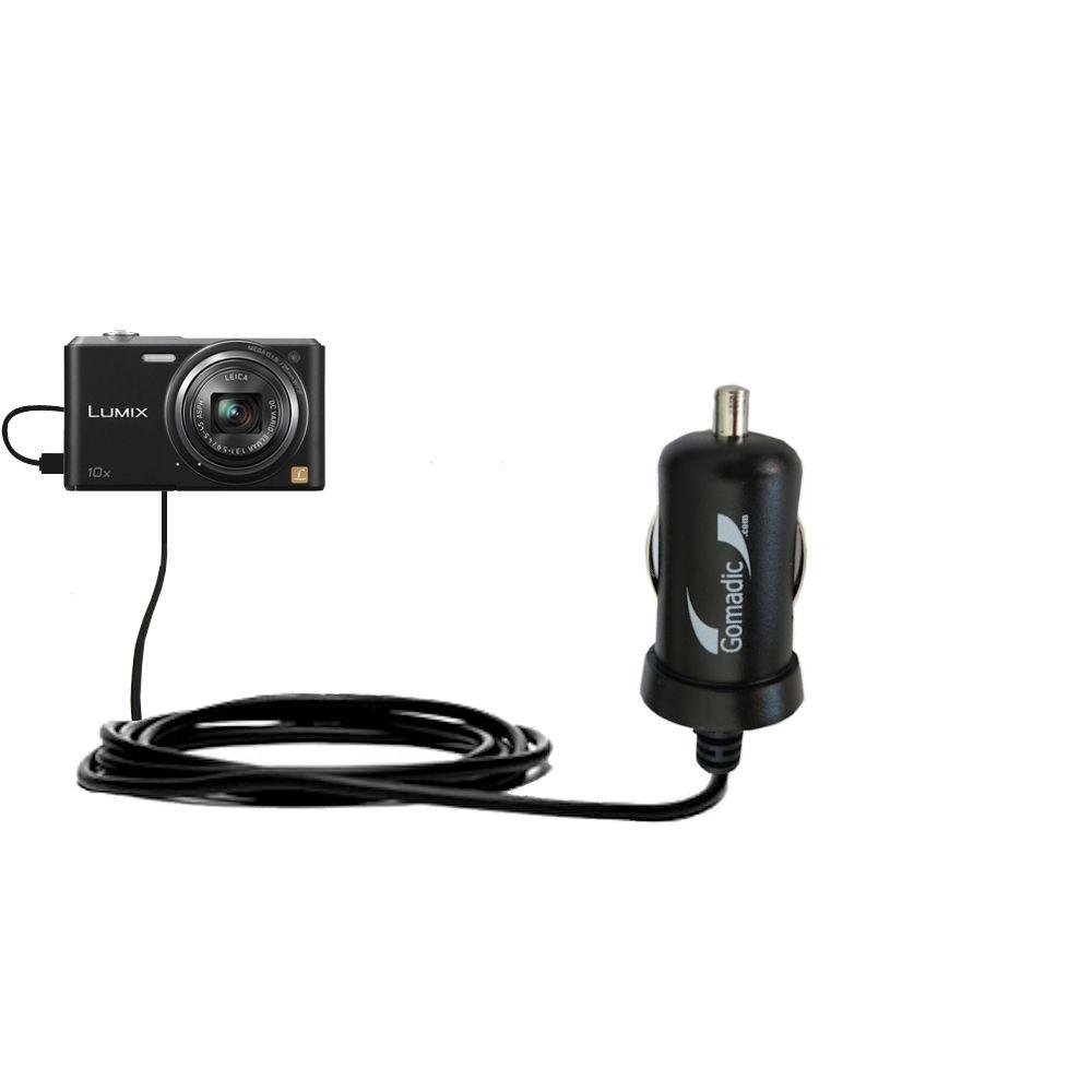 Mini Car Charger compatible with the Panasonic Lumix SZ3 / DMC-SZ3