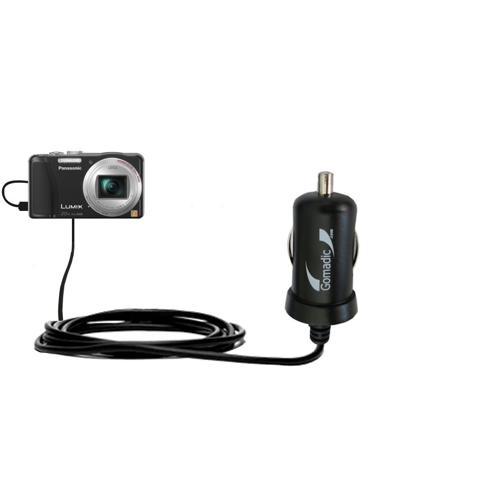 Mini Car Charger compatible with the Panasonic Lumix ZS19 / ZS20