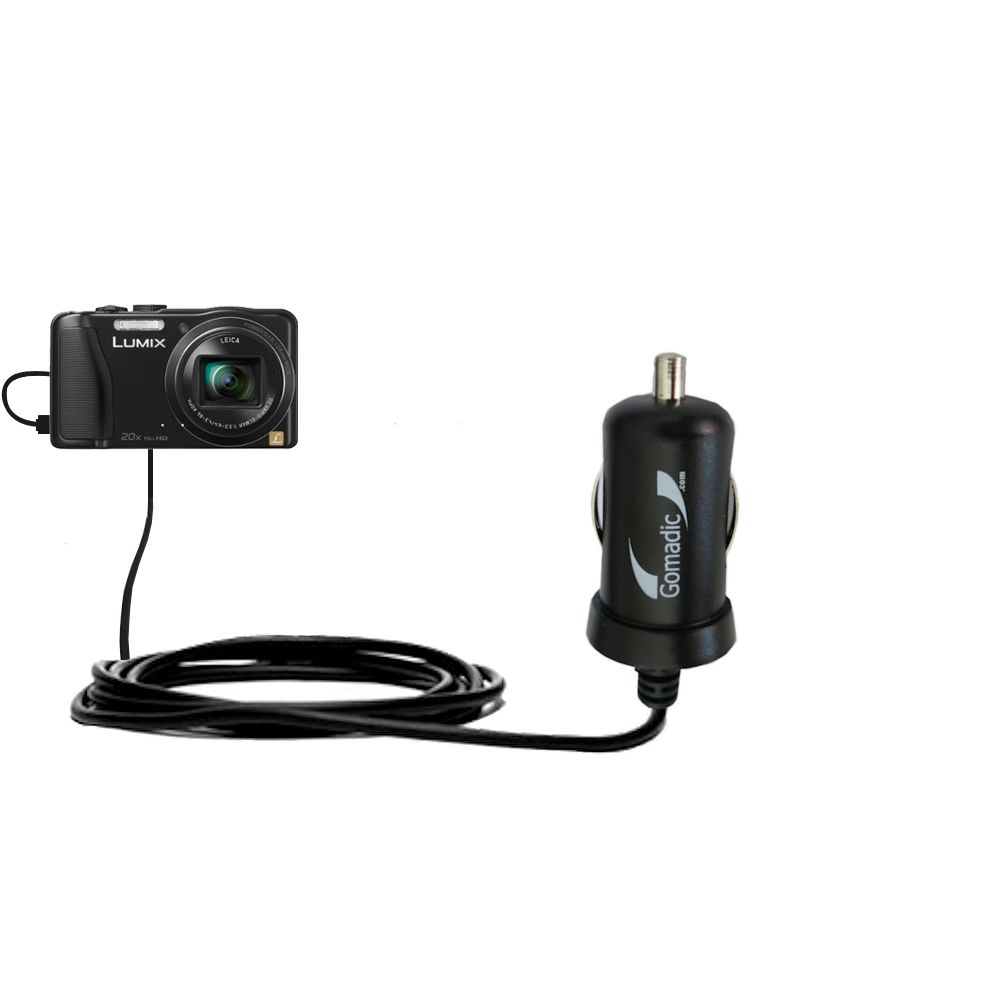 Mini Car Charger compatible with the Panasonic Lumix ZS25 / ZS30
