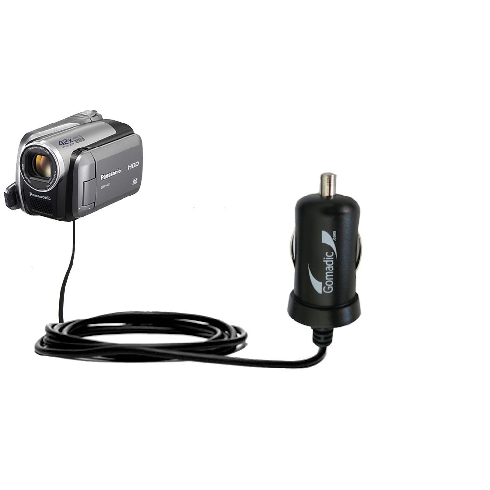 Mini Car Charger compatible with the Panasonic SDR-570 Camcorder