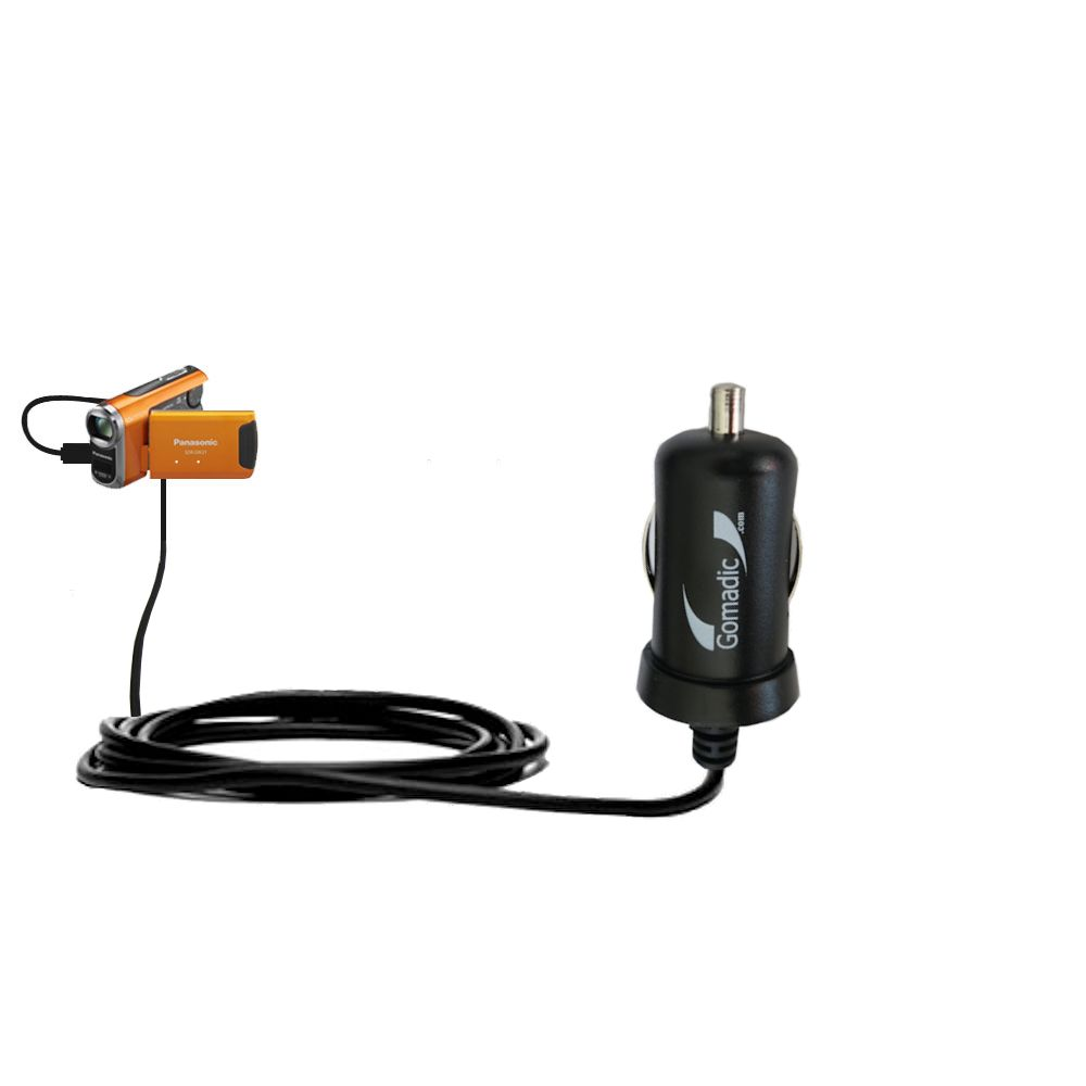 Mini Car Charger compatible with the Panasonic SDR-SW21 Video Camera