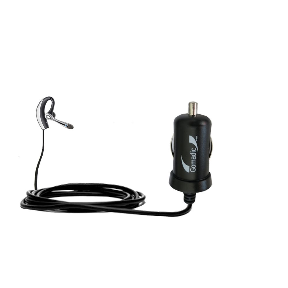 Mini Car Charger compatible with the Plantronics Voyager 510