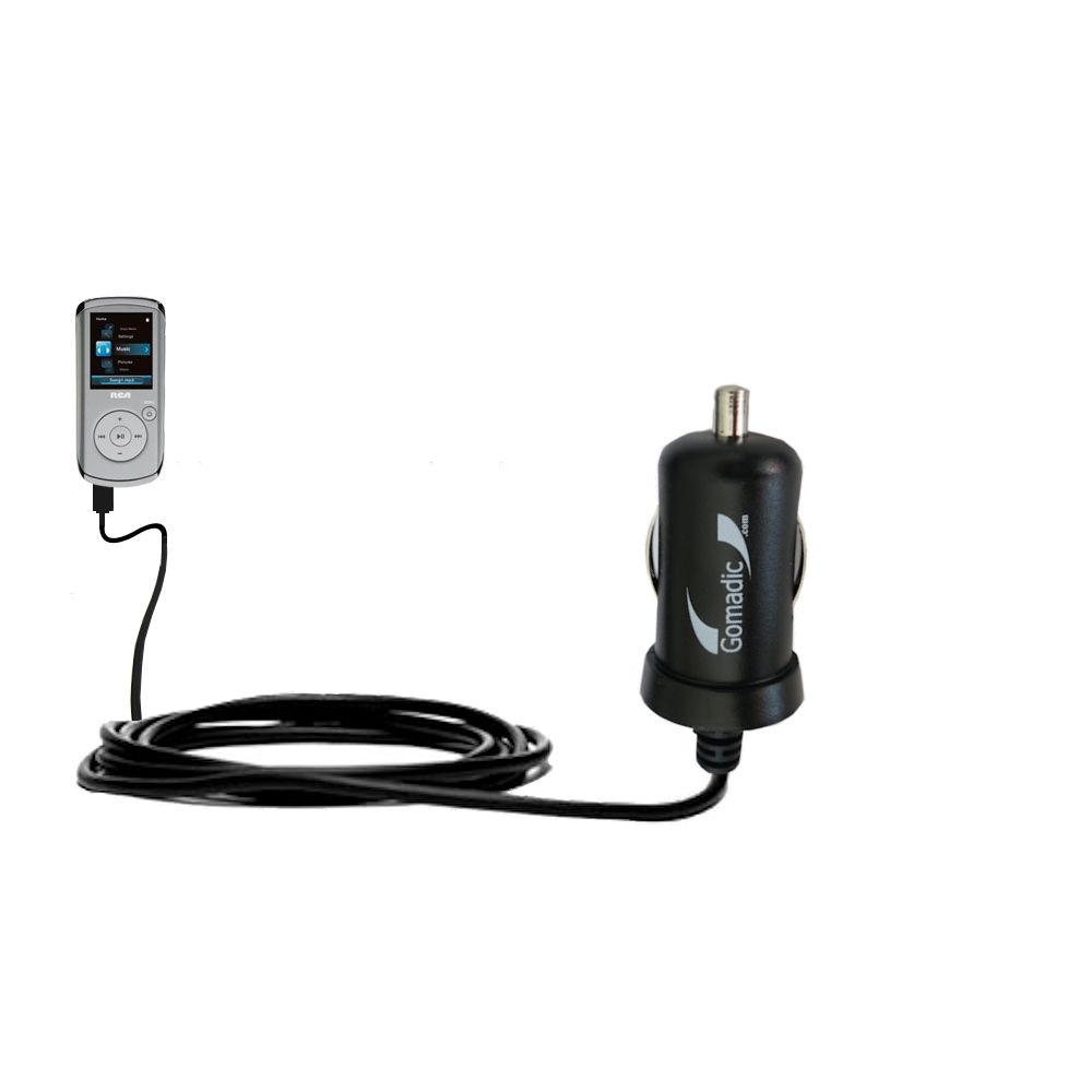 Mini Car Charger compatible with the RCA M4204 OPAL Digital Media Player