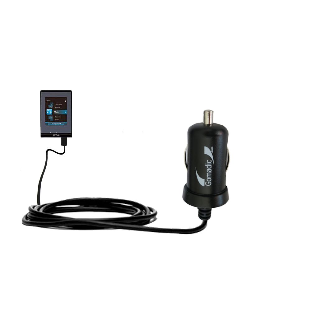 Mini Car Charger compatible with the RCA SLC5008 LYRA Slider Media Player