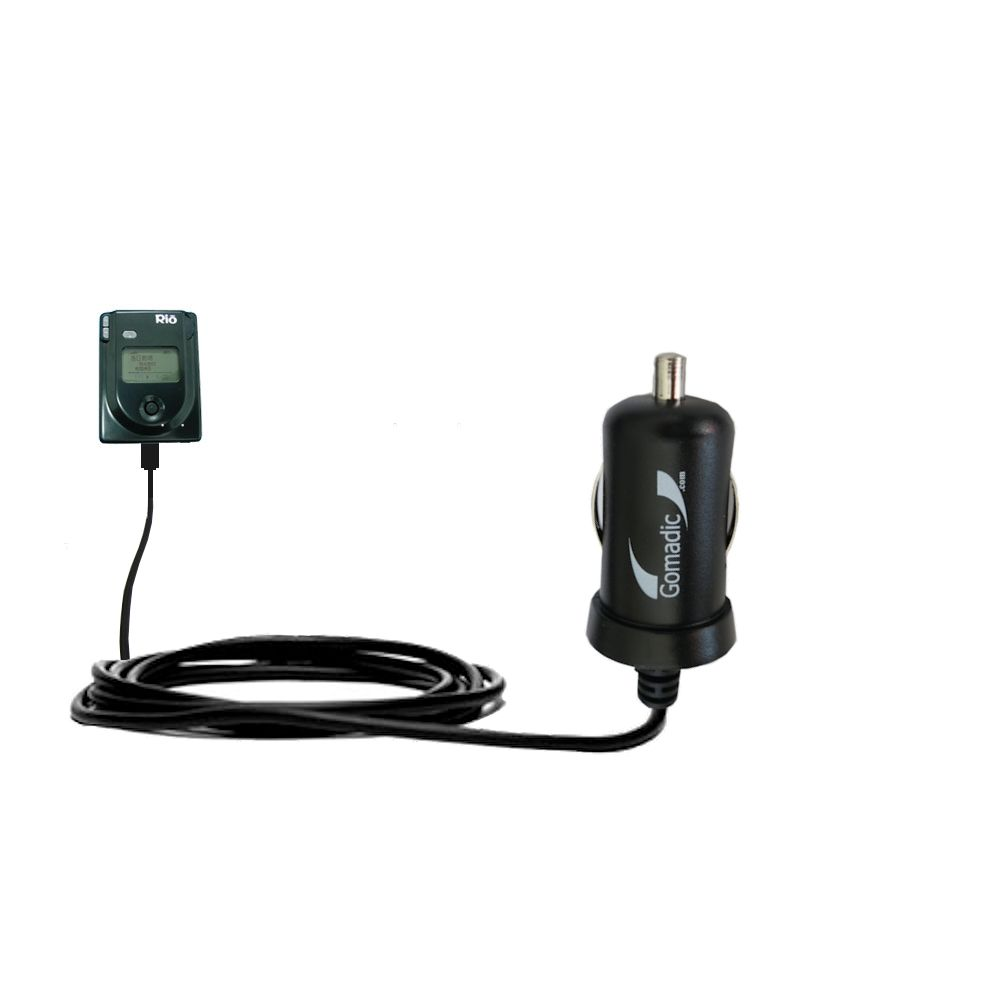 Gomadic Intelligent Compact Car / Auto DC Charger suitable for the Rio Eigen - 2A / 10W power at half the size. Uses Gomadic TipExchange Technology