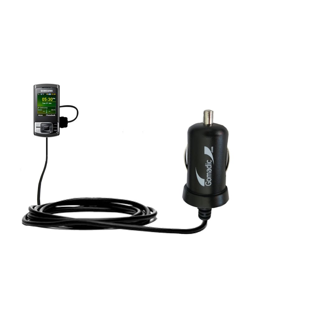Mini Car Charger compatible with the Samsung GT-C3050