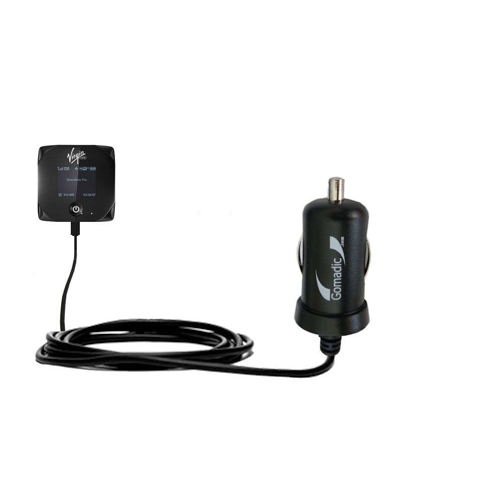 Gomadic Intelligent Compact Car / Auto DC Charger suitable for the Sierra Wireless Overdrive Pro - 2A / 10W power at half the size. Uses Gomadic TipExchange Technology