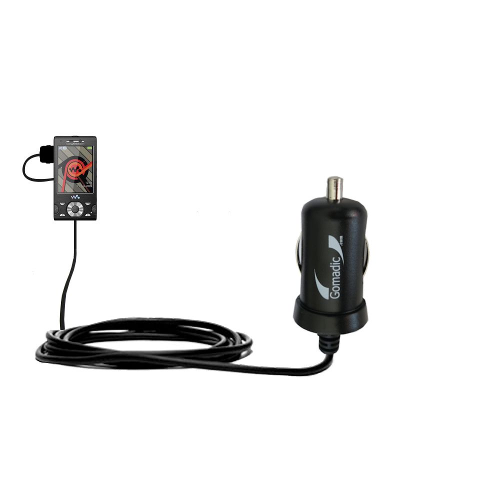Mini car charger compatible with the sony ericsson w995 w995a