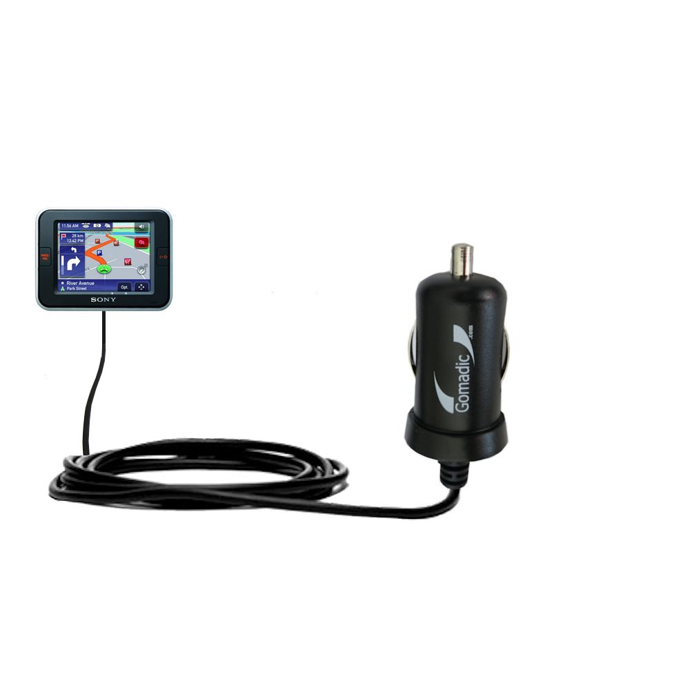 Mini Car Charger compatible with the Sony Nav-U NV-U52